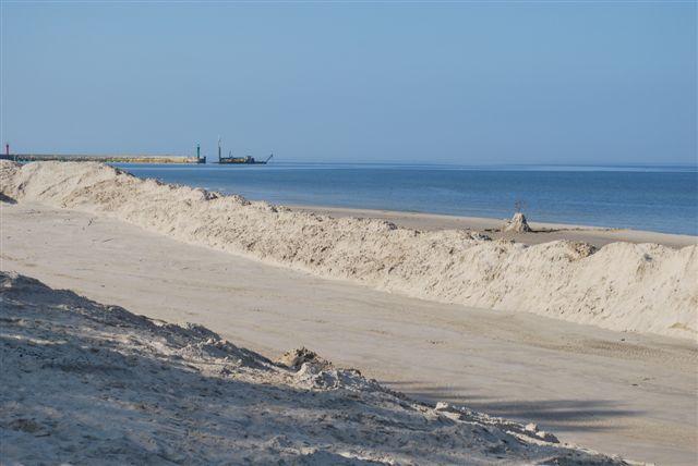 Plaża w Łebie koniec lata 2014